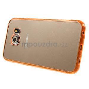 Oranžový hybridný gélový obal na Samsung Galaxy S6 Edge - 4