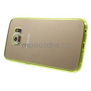 Světle žltý hybridný gélový obal na Samsung Galaxy S6 Edge - 4