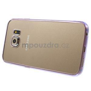 Fialový hybridný gélový obal na Samsung Galaxy S6 Edge - 4