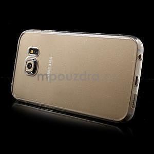 Transparentní hybridný gélový obal na Samsung Galaxy S6 Edge - 4