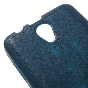 Vroubkovaný gelový obal na mobil Lenovo A319 - tmavěmodrý - 4