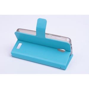 Horse PU kožené puzdro pre mobil Lenovo A319 - modré - 4