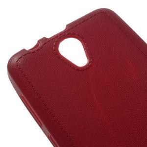 Vroubkovaný gélový obal pre mobil Lenovo A319 - červený - 4