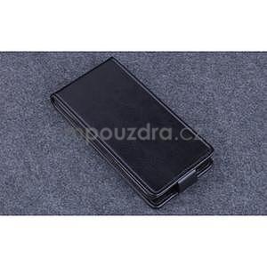PU kožené flipové puzdro na Lenovo A536 - čierne - 4