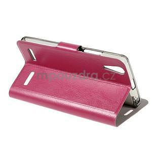 Peňaženkové PU kožené puzdro pre Lenovo A6000 - rose - 4