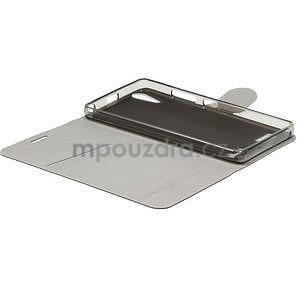 Peňaženkové PU kožené puzdro pre Lenovo A6000 - čierne - 4