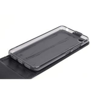 Flipové koženkové puzdro pre Lenovo S60 - čierné - 4