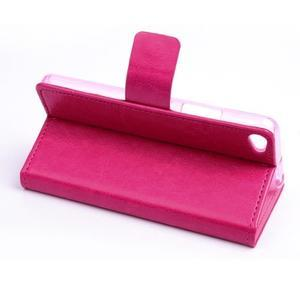 Peňaženkové PU kožené puzdro pre Lenovo S60 - rose - 4