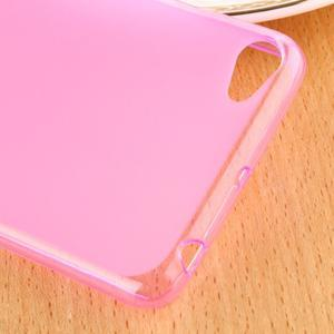 Matný gélový obal pre mobil Lenovo S60 - ružový - 4