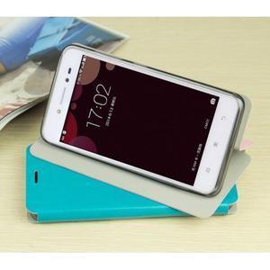 Moof PU kožené pouzdro na mobil Lenovo S90 - růžové - 4