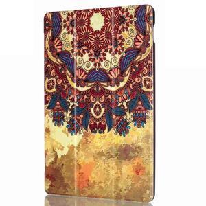 Polohovatelné pouzdro na tablet Lenovo Tab 2 A10-70 - vintage květiny - 4