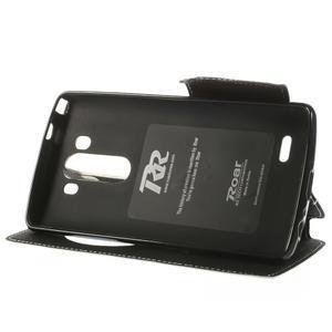Diary puzdro s okienkom na mobil LG G3 - biele - 4
