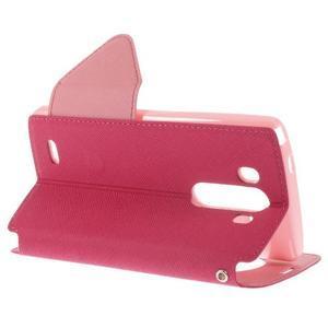 Diary puzdro s okienkom na mobil LG G3 - rose - 4