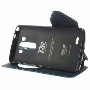 Diary puzdro s okienkom na mobil LG G3 - svetlomodré - 4