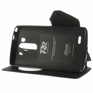 Diary puzdro s okienkom na mobil LG G3 - tmavomodré - 4
