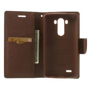 Goos peňaženkové puzdro pre LG G3 - čierne/hnedé - 4