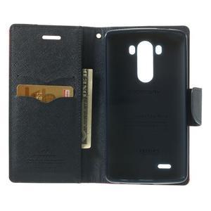 Goos peňaženkové puzdro pre LG G3 - červené - 4