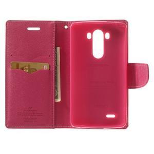 Goos peňaženkové puzdro pre LG G3 - ružové - 4