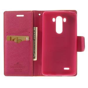 Goos peňaženkové puzdro pre LG G3 - žlté - 4