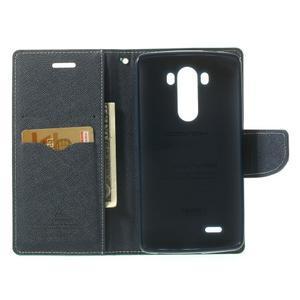 Goos peněženkové pouzdro na LG G3 - cyan - 4