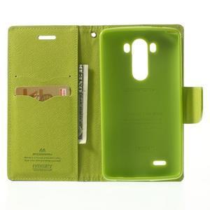 Goos peněženkové pouzdro na LG G3 - tmavěmodré - 4