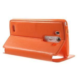 Roar peňaženkové puzdro s okienkom na LG G3 - oranžové - 4
