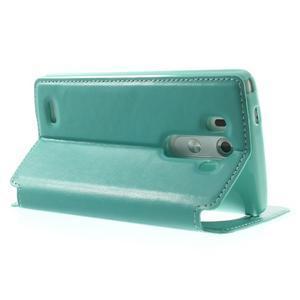 Roar peněženkové pouzdro s okýnkem na LG G3 - cyan - 4