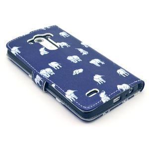 Obrázkové puzdro pre mobil LG G3 - sloníci - 4