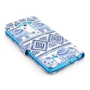 Obrázkové puzdro pre mobil LG G3 - modří sloni - 4
