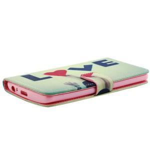 Obrázkové koženkové puzdro pre mobil LG G3 - love - 4