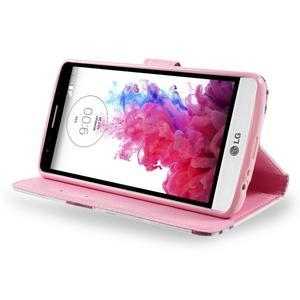 Motive koženkové pouzdro na LG G3 - fialový květ - 4