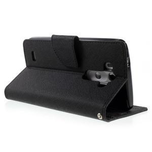 Cross PU kožené puzdro pre LG G3 - čierne - 4