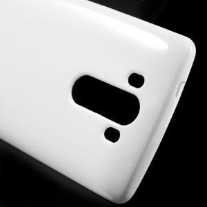 Lesklý gelový obal na LG G3 - bílý - 4