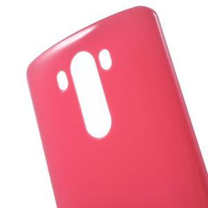 Lesklý gélový obal pre LG G3 - červený - 4