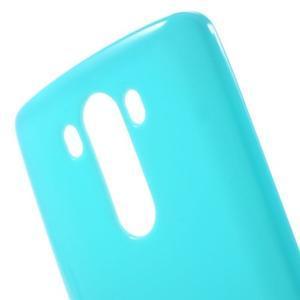 Lesklý gelový obal na LG G3 - světlemodrý - 4