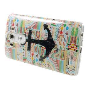 Gélový kryt pre mobil LG G3 - kotva - 4