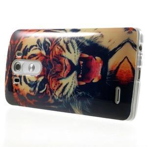 Gélový kryt pre mobil LG G3 - tygr - 4