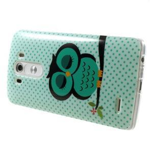 Gélový kryt pre mobil LG G3 - sovička - 4