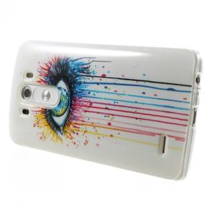 Gelový kryt na mobil LG G3 - barevné oko - 4