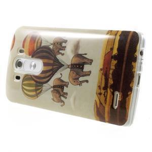 Gélový kryt pre mobil LG G3 - sloni - 4