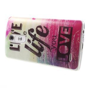 Silks gelový obal na mobil LG G3 - love - 4
