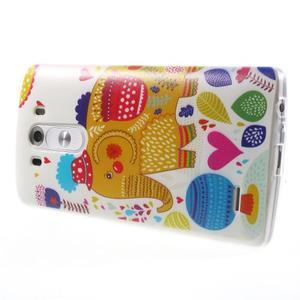 Silks gélový obal pre mobil LG G3 - slon - 4