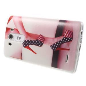 Silks gélový obal pre mobil LG G3 - sexy topánka - 4