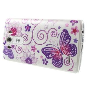 Silks gelový obal na mobil LG G3 - motýlci - 4