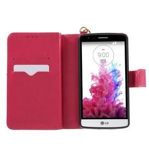 Patrové peňaženkové puzdro pre mobil LG G3 - rose - 4