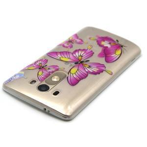 Priehľadný gélový obal pre LG G3 - motýľe - 4
