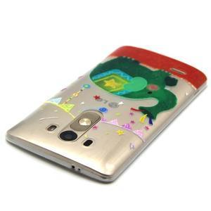 Průhledný gelový obal na LG G3 - slon - 4