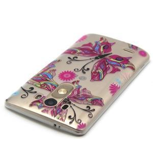 Priehľadný gélový obal pre LG G3 - farební motýľe - 4