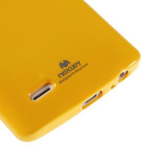 Odolný gelový obal na mobil LG G3 - žlutý - 4