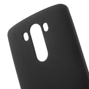 Matný gélový obal pre LG G3 - čierny - 4
